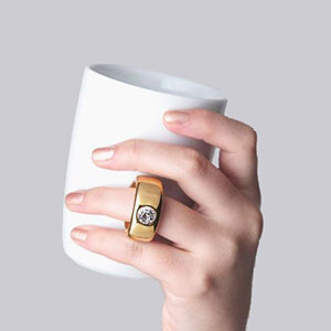 Cup Ring White/Gold